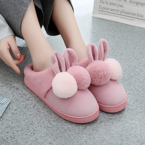Pantofole di orecchie del fumetto pantofole Winter Home Piano morbida Pantofole Scarpe Donna calda ome Sale-