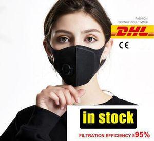 Stokta DHL Kargo! Yüz maskesi toz maskesi Anti kirliliği maskeleri Pm2. 5 aktif karbon filtre eklemek kullanımlık ağız maskeleri sıcak