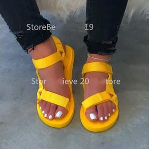 Venda quente novo mulheres primavera / verão novas sandálias de soft-deslizamento antiderrapante espuma únicas sandálias duráveis senhoras ao ar livre chinelos de praia MS