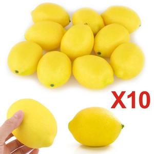 10 قطع فقاعة محاكاة وهمية الليمون الفواكه الخضروات الفاكهة الاصطناعي نموذج منزل مطبخ حزب تزيين المنزل الفاكهة