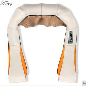Pescoço massageador elétrico em forma de U pescoço massageador Shiatsu ombro massageadores corpo para trás pescoço pernas pés de carro uso doméstico massagem C18122801