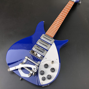 High-quality blue 325 electric guitar, basswood body, mahogany fingerboard, clear paint, chrome-plated hardware, real photos, free delivery