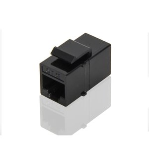 CAT5e RJ45 Connector Plug Socket Keystone Jack Inline Coupler Ethernet Cable Extende RJ45 Coupler Female to Female JK2007XB