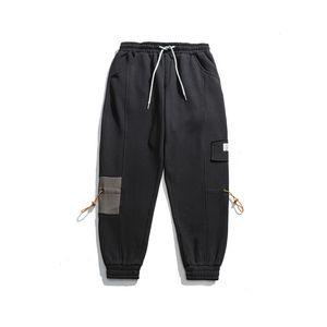 2019 Kış Yeni Japon Vintage Gevşek Casual Footpants Gençlik Trending Sweatpants
