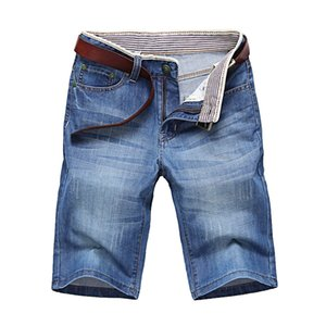 Shorts jeans Boa Qualidade Short Jeans Men Cotton Men ClassDim Sólidos Liso Curto Jeans azul masculino Casual