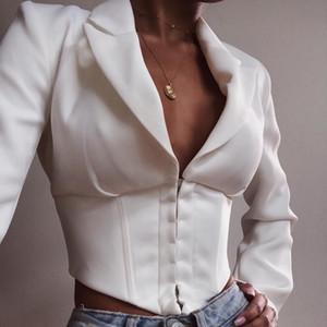 V С длинным рукавом Пряжка кардиган Костюм Свободное пальто Костюм-платье Блейзер Femme Feminino Vadim Women
