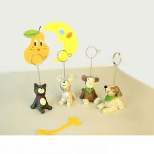 8 Style Mini Resin Animal Shaped Table Number Place Cip Card Clip Wedding Birthday Party Decoration
