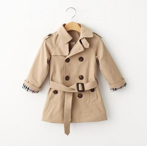 Retail Spring trench coat for girls boy clothes children clothing cotton double-breasted jacket kids clothes windbreaker girls boys Coat