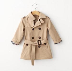 Einzelhandel Frühling Trenchcoat für Mädchen Jungen Kleidung Kinder Kleidung Baumwolle Zweireiher Jacke Kinder Kleidung Windjacke Mädchen Jungen Mantel