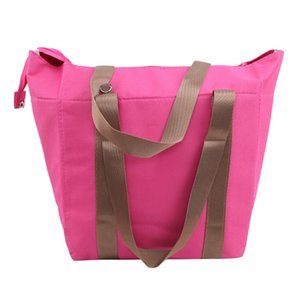 Thicken Straps Warm Bag Ice Pack Lunch Cooler Bag Food Fresh Picnic Handbags Men and Women Insulation Multicolor Lunch Bag
