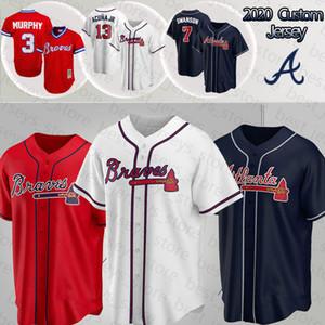 Атланта 13 Ronald Acuña Jr Выдерживает 3 Дэйл Мерфи 7 Dansby Swanson 5 Freddie Freeman 2020 Новый заказ трикотажные изделия бейсбола