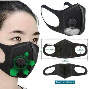 DHL Shipping! Máscara Reutilizável Máscara de filtração Válvula de ventilação protecção máscaras contra partículas de pó poluição anti-poeiras PM2. 5