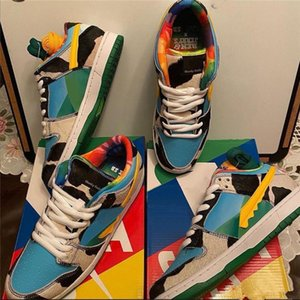 2020 Hot Selling Newe Ben & Jerrys x SB Dunk Low Chunky Dunky White Lagoon Pulse-Black-Universit Running Shoes Dunks Trainers with Box
