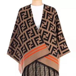 2020 más reciente estrella de la bufanda del mantón de Cabo Tipo abrigo de lana cachemira otoño capa de invierno femenino de la talla de invierno venta caliente