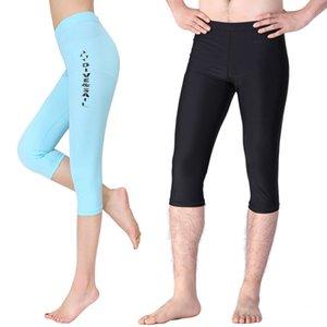 DIVESAIL Lycra recortada pantalones de natación Traje de Surf Traje de baño de las mujeres de los hombres Rashguard Beach shorts Swimwear Trajes de snorkel