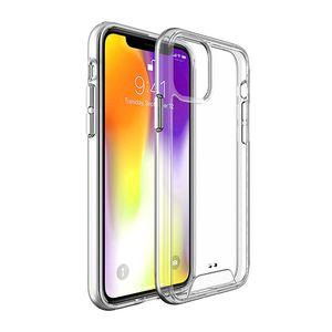 Para iPhone 12 Pro Max XR X 7 8 Caso espaço PlusTransparent Limpar TPU rígido de volta Casos PC de telefone para LG K51 para A01 A11 A20 A10S A20S A50 A70