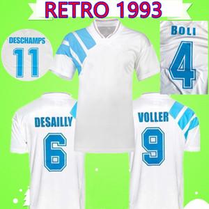 1993 2018 camisas de futebol retrô Olympique De Marseille 25º OM Anniversary Edition maillot camisas de futebol vintage BOKSIC PELE PAPIN REMY