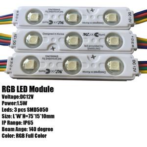 IP68 Samsung SMD 5630 5730 led module Light Advertising lamp 1.5W 3Leds Sign Backlights Impermeabile 12V bianco SAMSUNG chip