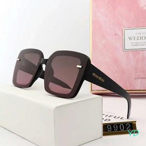 Moda de Luxo Óculos De Sol Designer de Óculos De Sol Da Marca Adumbral Polaroid Goggle Óculos Modelo 9902 5 Cores Opcionais de Alta Qualidade com Caixa