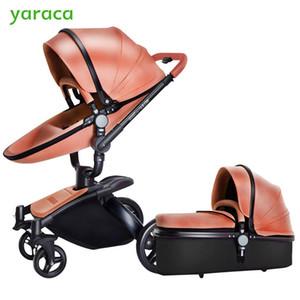 Детская коляска с раздельной Люлькой Черной рамкой 360 градусов вращение коляски высокого пейзаж коляска для новорожденных 2 в 1