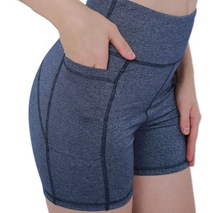 High Waist Workout Yoga Shorts for Women Running Biker Shorts with Pockets