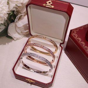 Designer jewellery, designer bracelet, gypsophila LOVE bracelet with diamonds, sub-gold material 18K gold-plated couple, gift for ladies