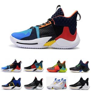 Hombres 0,2 PF zapatillas de deporte Russell Westbrook II 2019 nuevos zapatos de baloncesto ¿por qué no zapatillas de deporte cero 2 entrenadores originales nosotros el tamaño 40-46