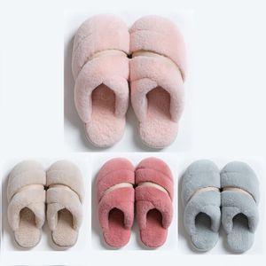 2020 hotsale Olmayan Marka Kış kadın erkek Terlik kürk çevirme Kapalı Sıcak Ev Ayakkabı tutun Kauçuk Düz Sandalet 38-45 Stil 57 Sandaletler flop