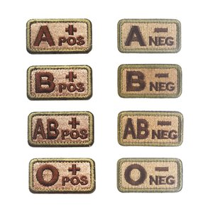 Tactical Blood Type Label Armband Paste Embroidered Velcro Badge Function Patches Blood Type Identification badge 5*2.6cm