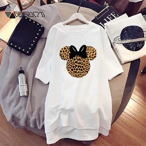 Fashion Women Designer T Shirt Dresses Summer 2020 New Arrival Womens Printed T Shirts Dresses Casual Tees Dress Size M-4XL
