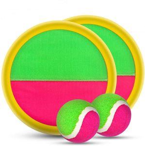 TOY Paddle et Catch Toss Boule Version Set-8 pouces Paddle Upgraded Jeux Catch jouet pour enfants / adultes (2 Raquettes, 2Balls et 1 sac de rangement)
