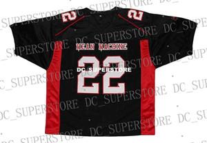 Venta al por mayor Scarborough # 22 Mean Machine New Jersey de fútbol cosido en negro Personalizado cualquier nombre de nombre HOMBRES MUJERES JÓVENES Fútbol JERSEY
