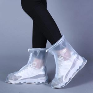 عالية أعلى مكافحة زلة أحذية المطر الحالات للجنسين الكبار الاطفال زيبر المطر الحذاء يغطي حامي للماء أحذية التمهيد غطاء DH0887