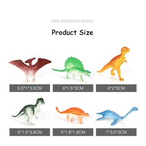Los juguetes educativos de 10pcs / lot lotes mini dinosaurio Modelo lindo de los niños Figuras de simulación de animales pequeños para los juguetes del niño regalo para los niños
