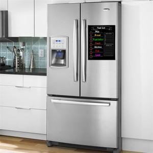 Ímã do refrigerador Calendário Magnético Cartaz Preto Branco Mensagem Board Logo Padrão Neutro Quadro Negro Adesivo Venda Quente 11sm p1