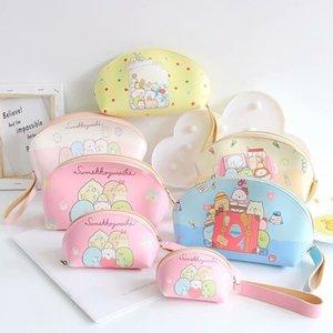 3pcs set cartoon sumikko gurashi bag pu leather cosmetic bags coin purses for Bag Stationery Zipper Bag kids gifts
