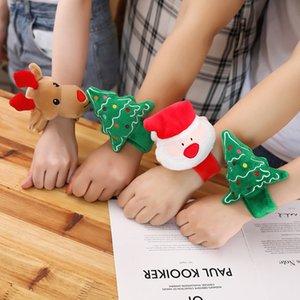 Вспышка Рождество Пощечина Оснастки браслет круг Рождество дети подарок Санта-Клаус Рождественская елка олень погладил кольцо партии детские игрушки TTA2053-4