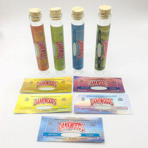 20 * 120mm DANKWOODS Miniglasflasche schließt OEM-Aufkleber und bunten Siegellack Dankwoods Packwoods Rollenverpackung Für trockenes Kraut Hash