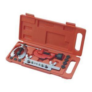 Copper Brake Fuel Pipe Repair Double Flaring Dies Tool Set Clamp Kit Tube Cutter