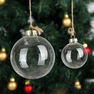 "Boda chuchería adornos de Navidad bolas de cristal Decoración de 80 mm bolas de boda Bolas de Navidad de cristal claro de 3"" / 80mm Adornos de Navidad"