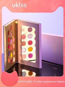 UKISS Novoland 15 Color Eyeshadow Palette Ins Hot Matte Shimmer Glitter Pigment Waterproof and Long-lasting Eye Shadow Makeup