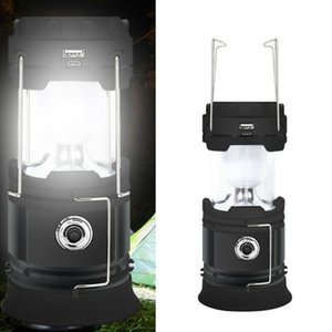 3-Colors Rechargeable Portable Solar Power Camping Light Outdoor Tent Flame Lamp Emergency Torch Battery Not Included