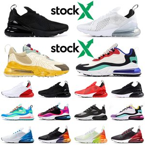 Nike air max 270 shoes 2019 Regency Purple Hot Punch Habanero Rouge Hommes Femmes Chaussures de course Flair Triple Black Core blanc Trainer Olive Tiger sport Baskets 36-45