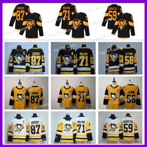 2020 Pittsburgh Penguins Jersey 87 Sidney Crosby 71 Evgeni Malkin Phil Kessel Kris Letang Lemieux Matt Murray Guentzel Jersey de hockey