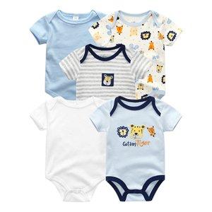 5PCS Lot Unisex Unicorn Baby Boy Clothes Cotton Kids Clothes Newborn Rompers 0-12M Baby Girl roupa de