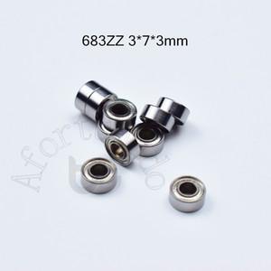 683Z rolamentos ABEC-5 10pcs metal selado em miniatura Mini rolamento de transporte gratuito 683 683Z 683ZZ 3 * 7 * aço cromado 3 milímetros rolamento profundo do sulco