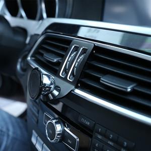스테인레스 스틸 자동차 전화 지원 스탠드 검은 색 자동차 인테리어 액세서리의 경우 메르세데스 벤츠 C 클래스 W204 2011년에서 2014년까지