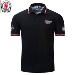 Fredd Marshall 2019 New Flag Embroidery Polo Shirt Men 100% Cotton Short Sleeve Business Casual Solid Color Brand Polo Shirt 039 T200530
