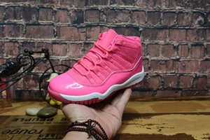 Vivid 11 Baby Kids Shoes Gym Red Space Jam Concord Pink Legend Blue Bred Black 11s Boy Girls Shoes Sneakers Regalo di compleanno