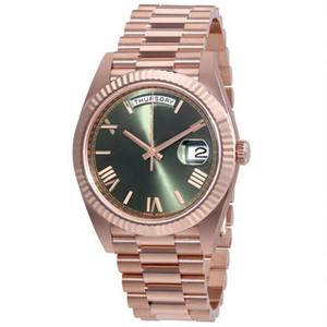 27 couleurs Montre pour homme 40mm automatique d'auto-vent montres 18K acier inoxydable DAY DATE Wristwatch pas de batterie 2813 hommes